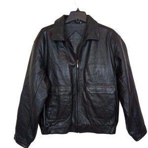 Roundtree & Yorke Men's Lamb Skin Leather Jacket